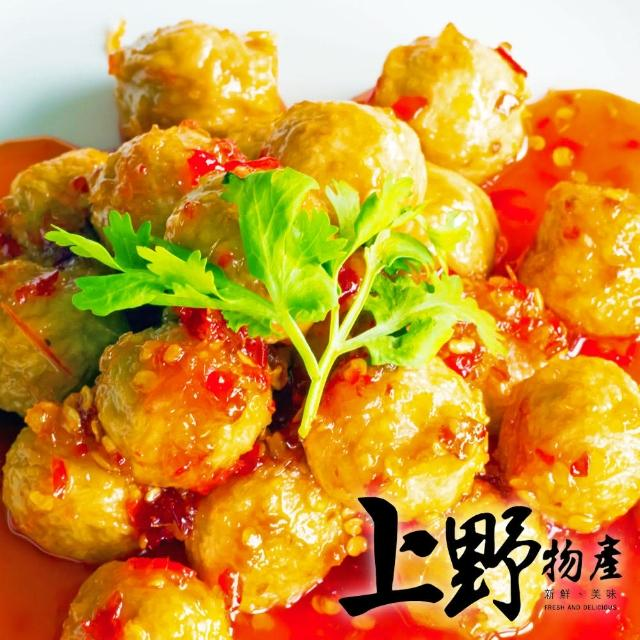 【上野物產】滑嫩紮實 鴨肉風味丸 x5包(200g±10%/約18顆/包)