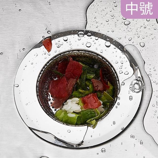 【Dagebeno】不鏽鋼廚房水槽排水口防堵塞過濾網落水頭(中)