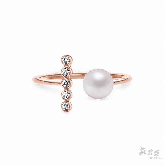 【蘇菲亞珠寶】維納斯之淚 14K玫瑰金 珍珠戒指