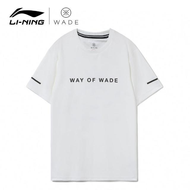 【LI-NING 李寧】韋德黑標短袖文化衫 標準白(AHSR455-2)