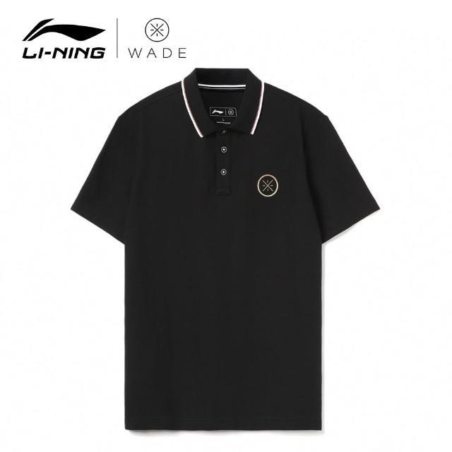 【LI-NING 李寧】韋德系列男子反光短袖POLO衫 黑色(APLR057-1)