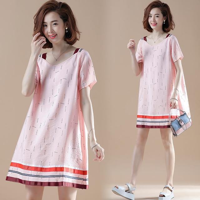 【A3】韓版短袖寬鬆連衣裙(涼爽舒適上衣)