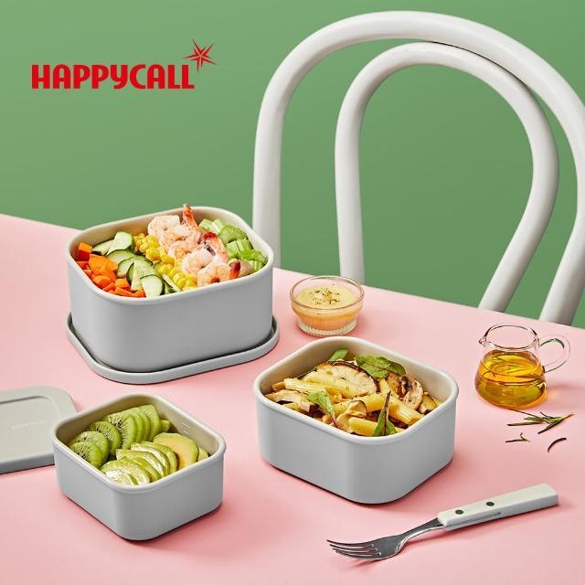 【韓國HAPPYCALL】韓國製耐熱矽膠方形保鮮盒3件組(300ml/500ml/900ml)