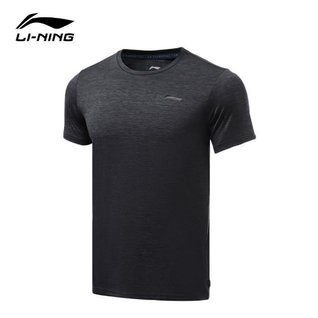 【LI-NING 李寧】健身系列男子短袖T恤 混色墨水灰(ATSR293-5)