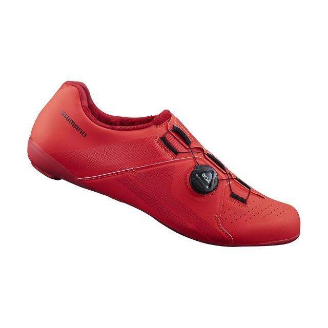 【SHIMANO】RC300 男性公路車性能型車鞋 寬楦 紅色