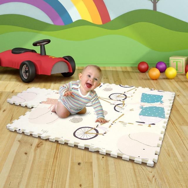 【LOG 樂格】XPE環保無毒巧拼地墊 X10片組-鴨鴨樂園(每片30X30cm)