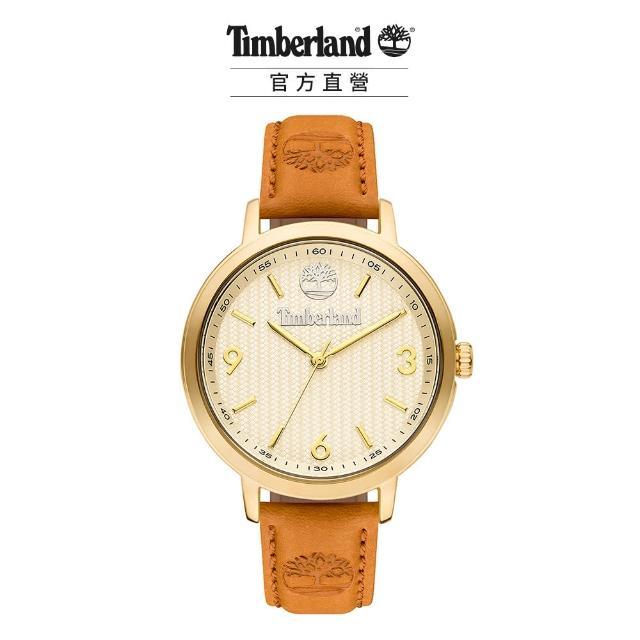 【Timberland】女款 KITTERY系列 大地經典腕錶 皮帶-米/小麥黃38mm(TBL.15643MYG/01)