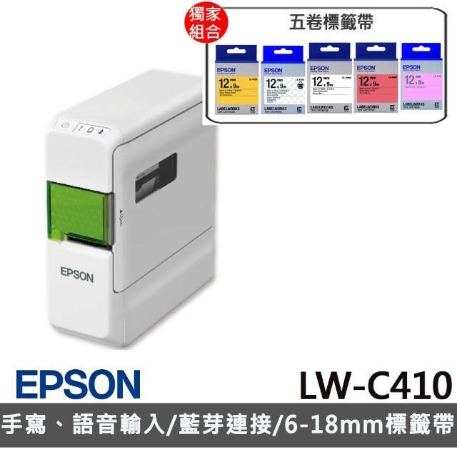 【升級保固超值組】贈5捲標籤帶【EPSON】LW-C410 文創風家用藍芽手寫標籤機