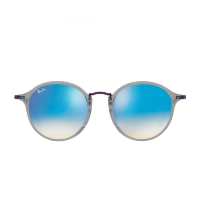 【RayBan 雷朋】FLAT漸變閃光款藍色鏡片(2447NF-625540)