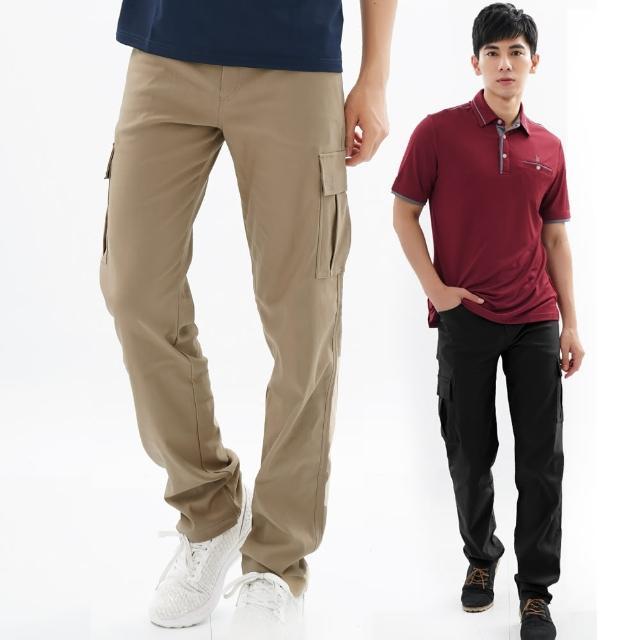 【遊遍天下】台灣製男款超顯瘦彈力多口袋休閒褲長褲 二色(M-3L)