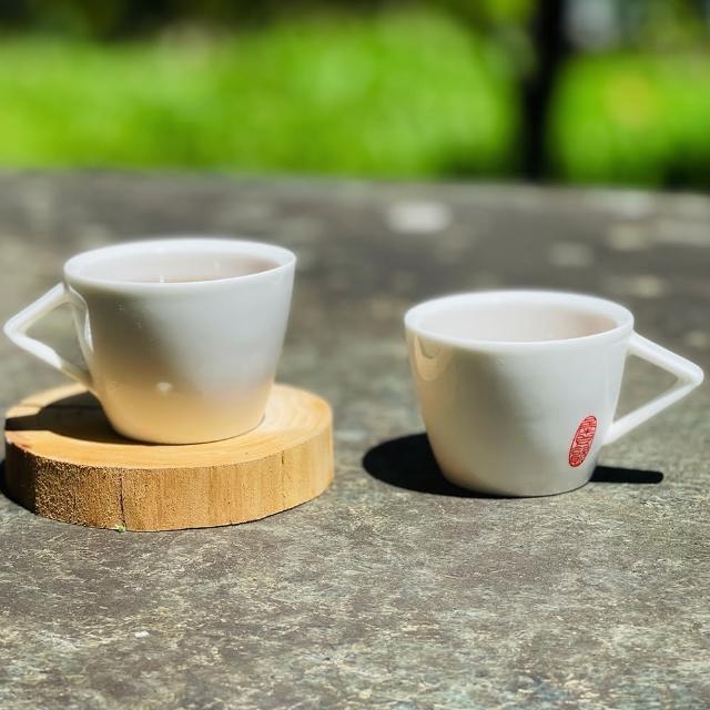【犀貝瓷】逍遙 濃縮咖啡杯 一組2入(好清洗 不卡垢 / 80ml)