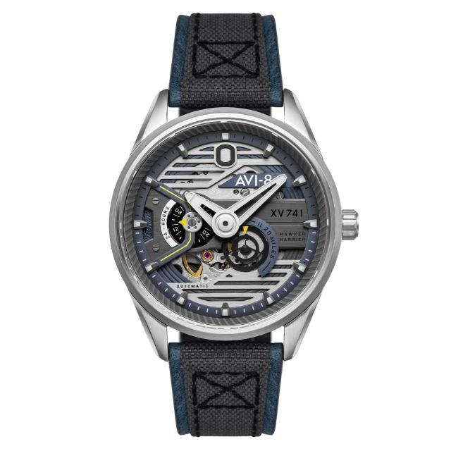 【AVI-8】飛行錶 HAWKER HUNTER 帥氣機械錶(藍灰)