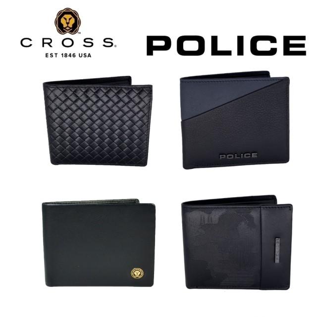 【CROSS】POLICE 雙品牌 限量2折 頂級小牛皮男用短夾 全新專櫃展示品(限量好禮三選一)
