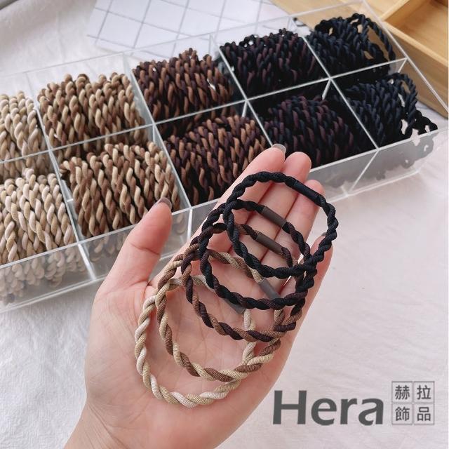 【HERA 赫拉】韓版簡約時尚髮圈髮束-5款/10入組 H11007164(韓版 多入組合髮圈多入組)