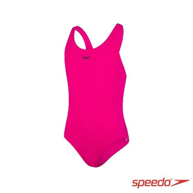 【SPEEDO】女孩 運動連身泳裝 Endurance+(電氣粉紅)
