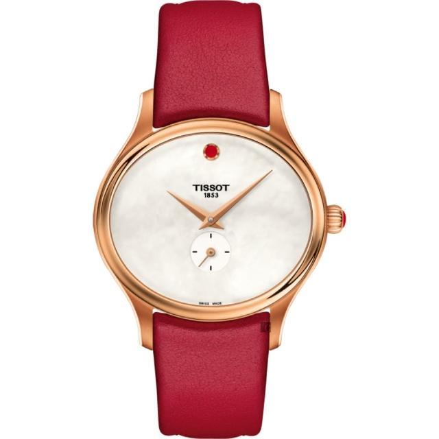 【TISSOT 天梭】天梭 Bella Ora 臻時系列小秒針女錶-珍珠貝x玫瑰金框/31mm(T1033103611101)