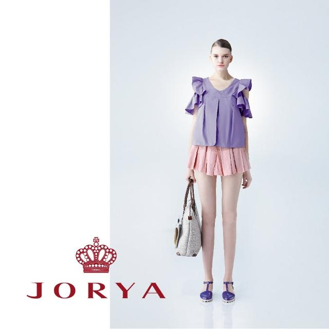 【JORYA】weekendG2203402打褶挺版淺色系質感短裙