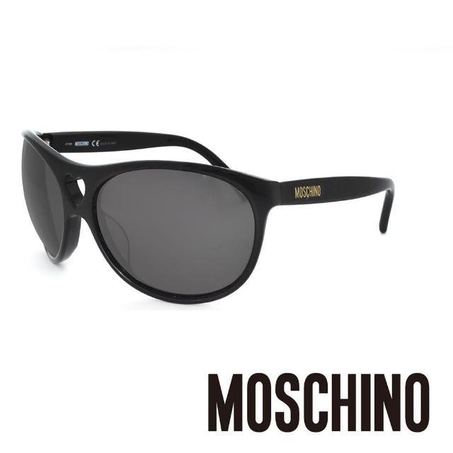 【MOSCHINO】義大利 愛心圓框 摩登太陽眼鏡(黑-MO50001)
