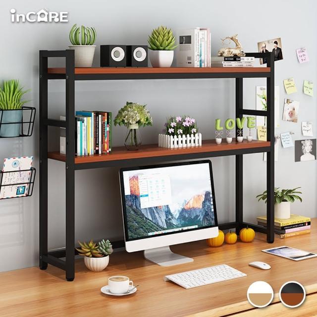 【Incare】雙層加厚簡約桌面收納置物架(95*20*92CM)
