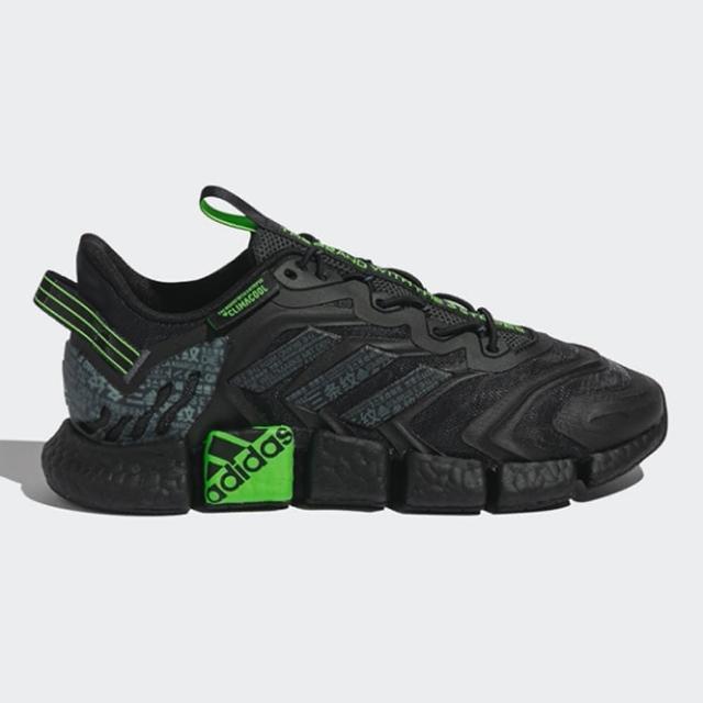 【adidas 愛迪達】慢跑鞋 男鞋 女鞋 運動鞋 緩震 CLIMACOOL VENTO 黑綠 GY3088