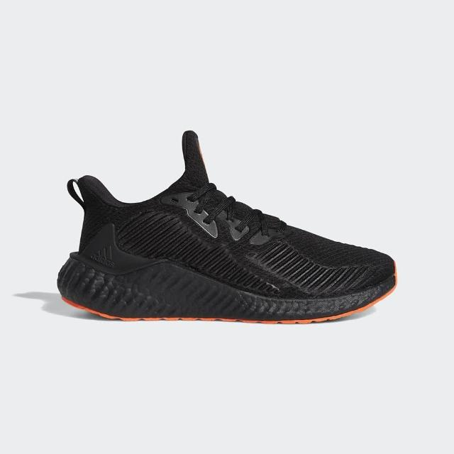 【adidas 愛迪達】慢跑鞋 男鞋 運動鞋 襪套 ALPHABOOST 黑橘 EH3317