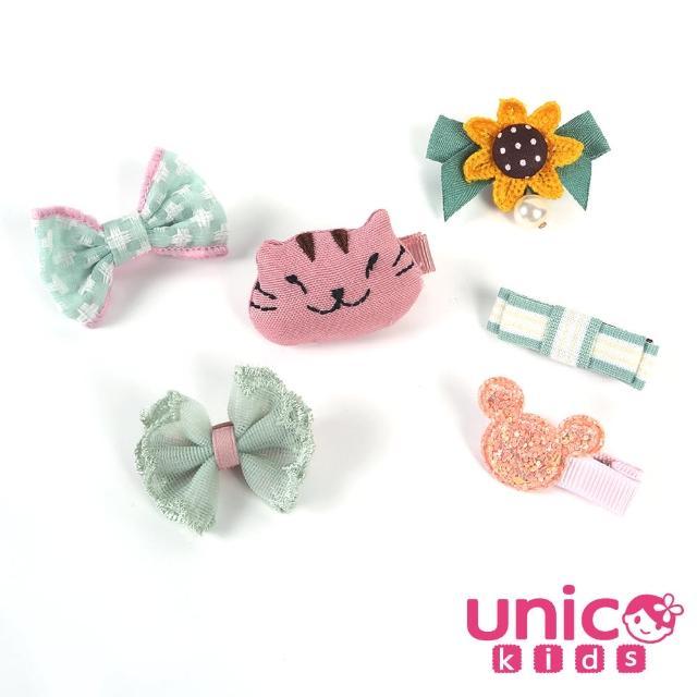 【UNICO】嬰兒少髮量寶寶多種俏皮元素造型全包布髮夾/髮飾(飾品/配件/俏皮/元素造型)