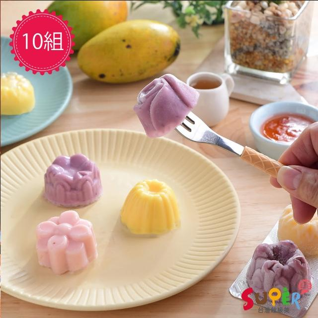 【台灣超級美】迷你草莓/芒果/桑葚三顆入雕花冰淇淋(10組 造型隨機出貨)