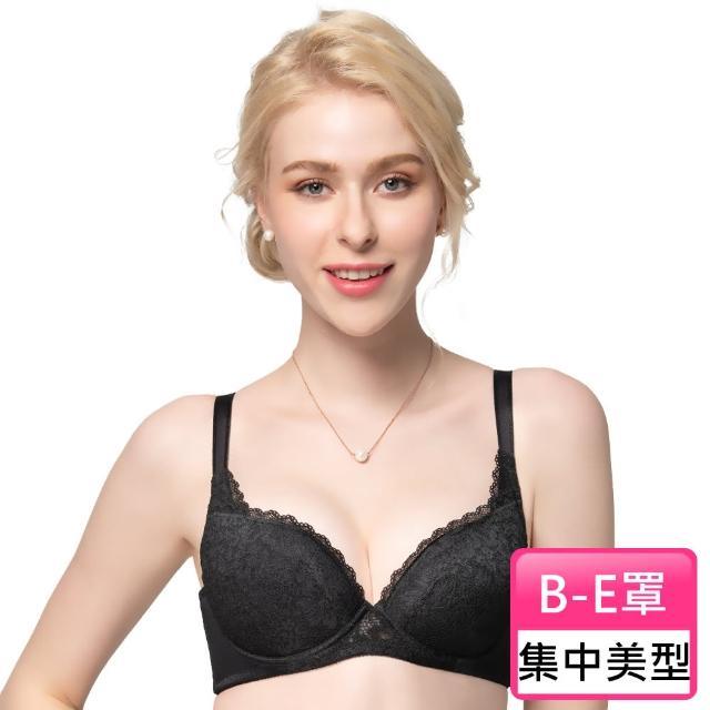 【Swear 思薇爾】花詠系列B-E罩蕾絲包覆女內衣(黑色)
