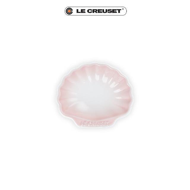 【Le Creuset】瓷器貝殼盤-小(淡粉紅)