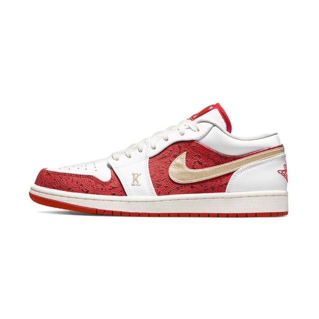 "【NIKE 耐吉】運動鞋 Air Jordan 1 Low ""Spades"" 男鞋 紅白 撲克牌 AJ1 休閒鞋 DJ5185-100(DJ5185-100)"