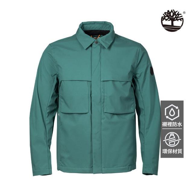 【Timberland】男款綠色Eco Ready教練外套(A2G9EJ74)
