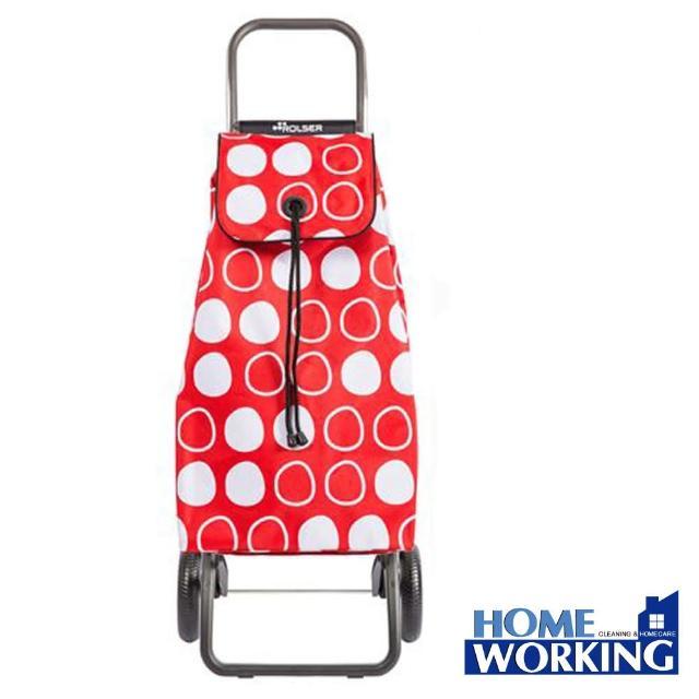 【ROLSER】西班牙RG摺疊兩輪時尚購物車-紅白(西班牙進口/輕巧時尚/順暢好推拉)
