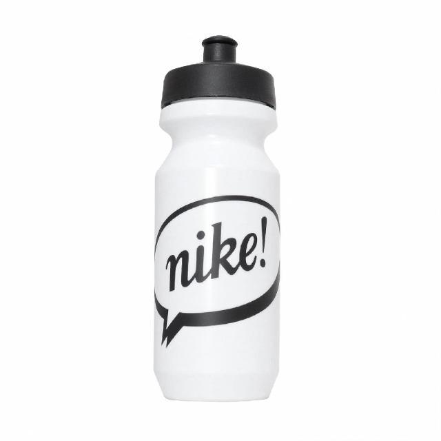 【NIKE 耐吉】水壺 Big Mouth Water Bottle 2代 健身 重訓 單車 大嘴巴 上學 白 黑(N000004312-722)