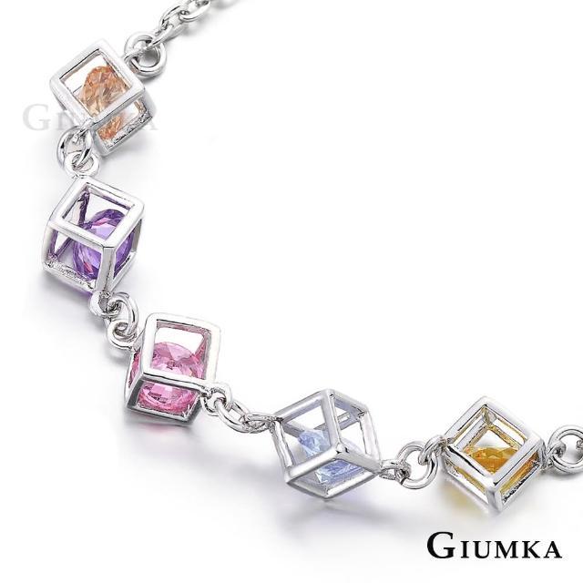 【GIUMKA】方塊遊戲手鍊 精鍍正白K/玫瑰金 淑女手鍊 聖誕節 禮物推薦 單個價格 MB00424(多色任選)