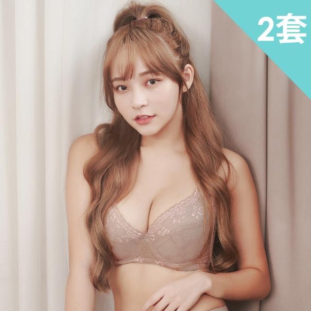 【魔莉莎】台灣製花稼之戀C-G涼感大罩杯防副乳機能內衣2套組(B716)