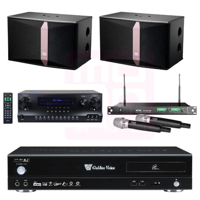 【金嗓】點歌機4TB+擴大機+無線麥克風+喇叭(CPX-900 R2+DW1+ACT-869PRO+JBL Ki512)