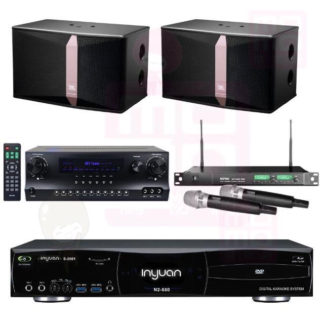 【音圓】點歌機4TB+擴大機+無線麥克風+喇叭(S-2001 N2-550+DW1+ACT-869PRO+JBL Ki512)