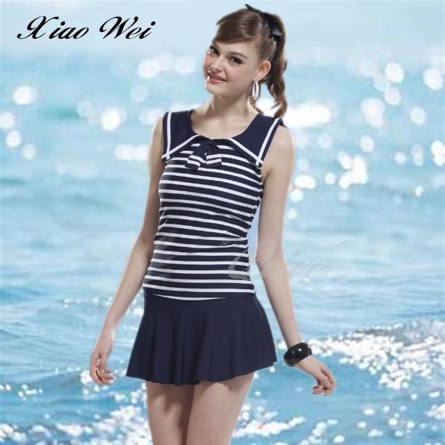 【小薇的店】泳之美時尚二件式裙款泳裝(NO.22688)