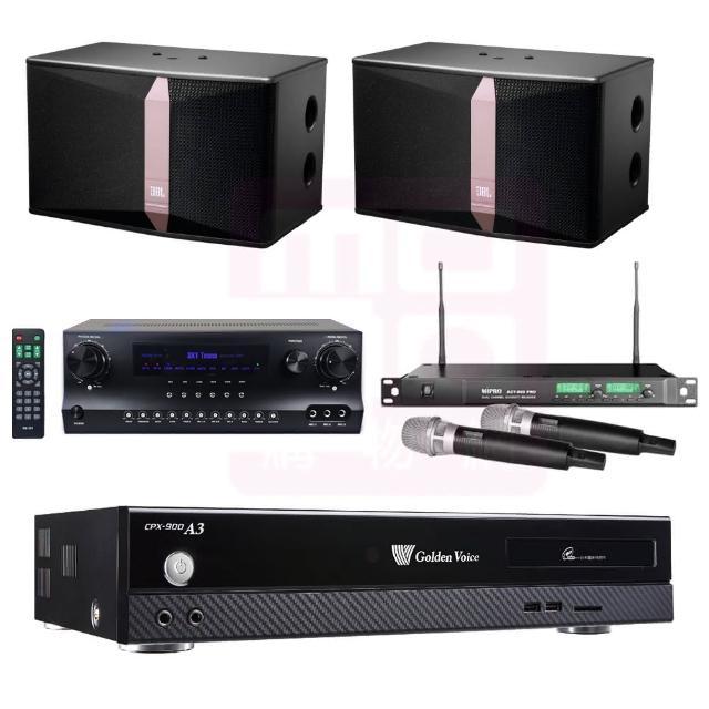 【金嗓】點歌機4TB+擴大機+無線麥克風+喇叭(CPX-900 A3+DW1+ACT-869PRO+JBL Ki512)