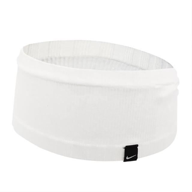 【NIKE 耐吉】頭帶 Seamless Headband 男女款 無縫 運動休閒 吸汗 球類運動 跑步 白 黑(N100057614-5OS)