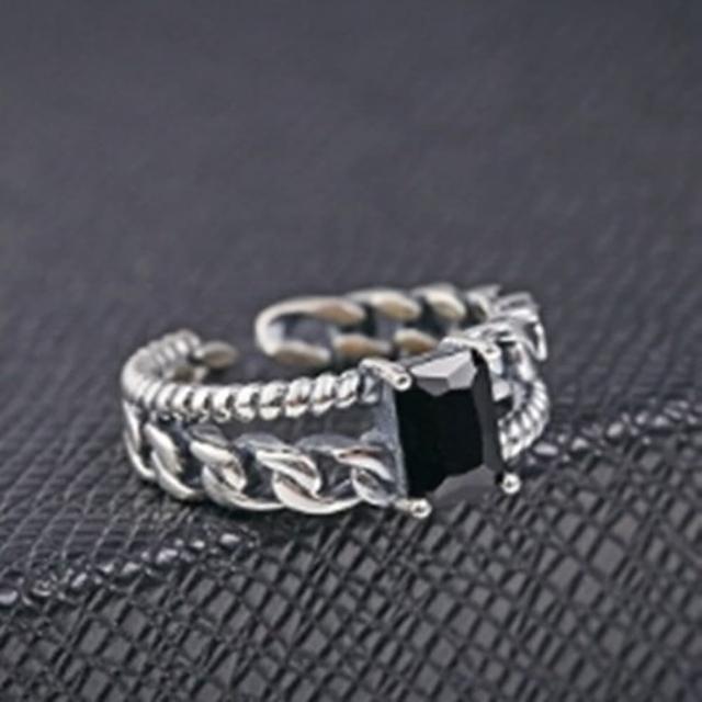 【米蘭精品】925純銀戒指鑲鑽銀飾(韓版設計高貴流行情人節生日禮物女飾品73dx9)
