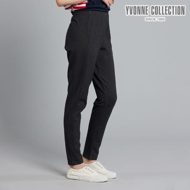 【Yvonne Collection】仿牛仔合身褲(黑M)
