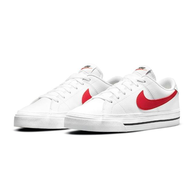 【NIKE 耐吉】休閒鞋 男鞋 女鞋 運動鞋 皮革 COURT LEGACY 白紅(CU4150105)