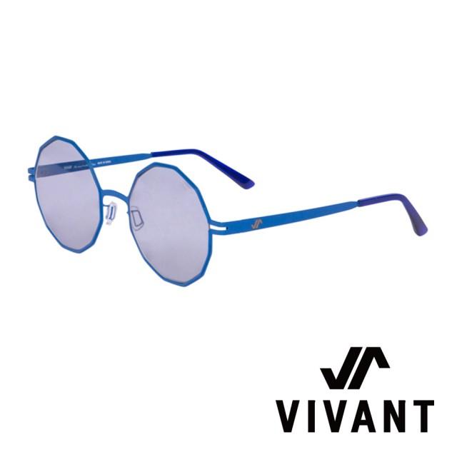 【VIVANT】韓國 精緻多邊形 鑽石太陽眼鏡(藍 - diamant - C5)