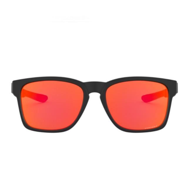 【Oakley】Catalyst黑色鏡框橘色鏡片運動太陽眼鏡(9272-2555)