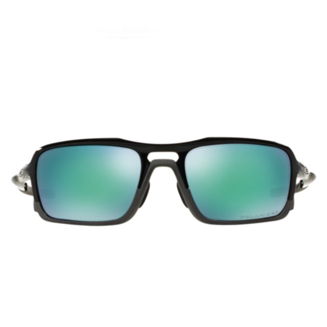 【Oakley】Triggerman黑色鏡框綠色鏡片運動太陽眼鏡(9314-0256)