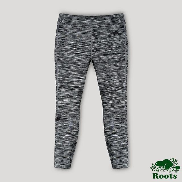 【Roots】Roots女裝-開拓者系列 楓葉內搭褲(灰色)