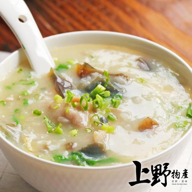 【上野物產】濃郁味美暖胃皮蛋瘦肉粥 x10盒(320g±10%/盒)