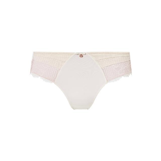【Triumph 黛安芬】FLORALE熱艷麗菊系列 超細纖維蕾絲無痕中腰三角內褲 M-EEL(典雅白)