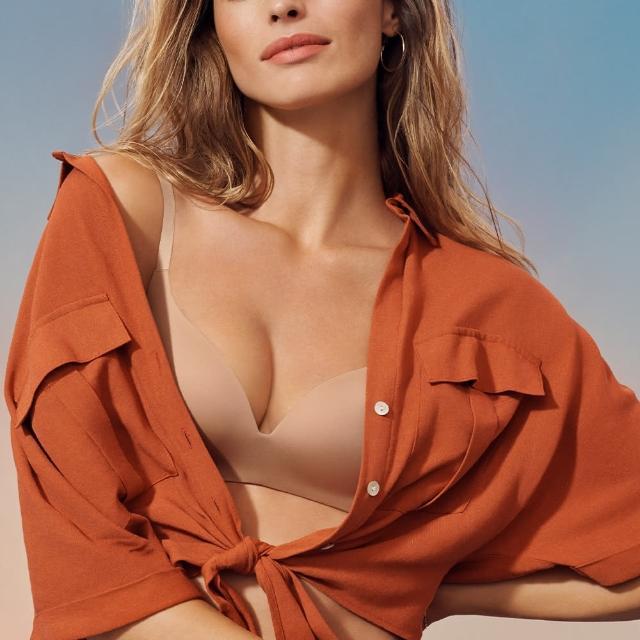 【Triumph 黛安芬】舒適自在系列 記憶枕無痕無鋼圈 B-D罩杯內衣(裸膚色)